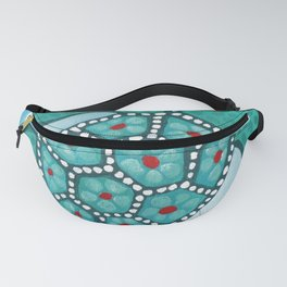 Funky Teal Turtle Fanny Pack