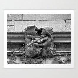 Musician Gargoyle, University of Chicago 2009 Art Print