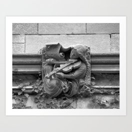 Musician Gargoyle, University of Chicago 2009 Art Print