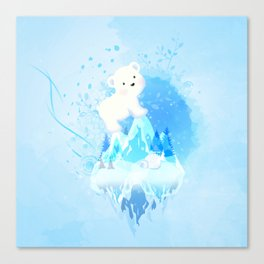 Save Polar Bear! Canvas Print