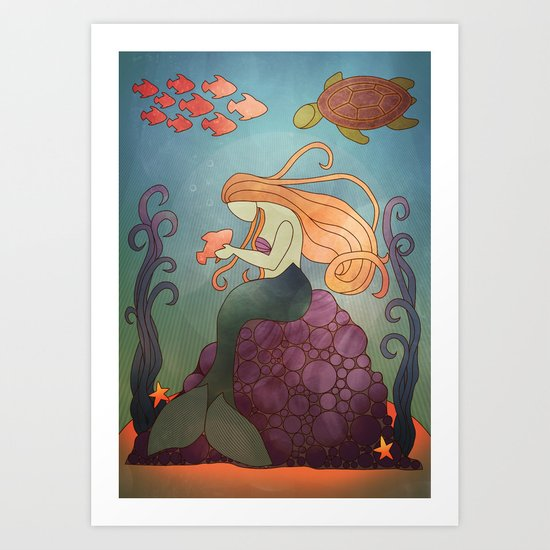 Fishy Business Art Print