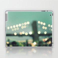 New York, Brooklyn bridge magical lights Laptop & iPad Skin