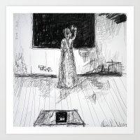 school Art Prints featuring school by woman