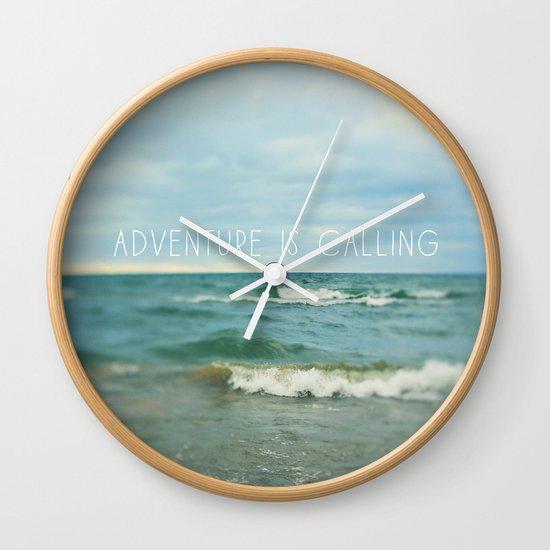 Adventure is Calling - Waves Wall Clock