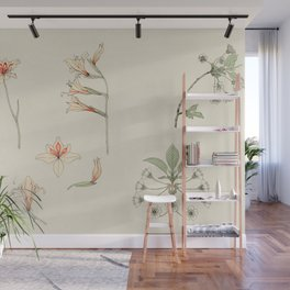 Julie de Graag - Study sheet with gladiolus and apple blossom Wall Mural