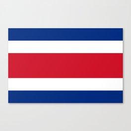 Flag of Costa rica -Costa rican, tico,San José ,Puerto Limón ,Alajuela, heredia. Canvas Print