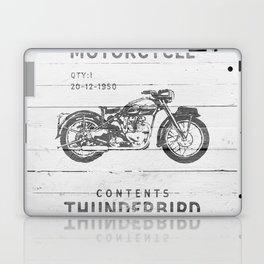 Vintage Triumph Thunderbird Motorcycle Laptop & iPad Skin