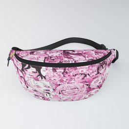 Ahegao Hentai Collage pink Fanny Pack