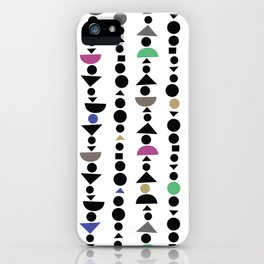 All the Shapes, Jewel Tone Pattern iPhone Case