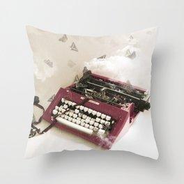 O Son dos recordos (IV) -The sound of memories Throw Pillow