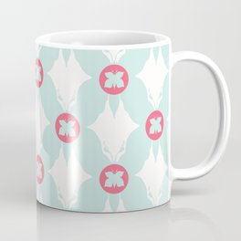 Geometric Butterflies Polka Dots Coffee Mug