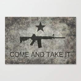 Come and Take it Flag with AR-15 Canvas Print