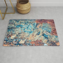 Layered Rustic Rock Rug