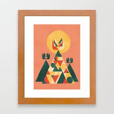 Sunset Tipi Framed Art Print