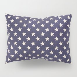 Navy Stars Pillow Sham