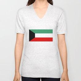 Kuwait country flag Unisex V-Neck