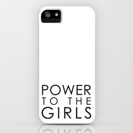 Power to the BOLD Girls | black v. iPhone Case