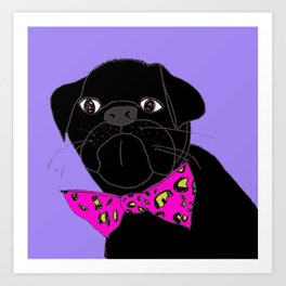 Jasper is in your Closet, Wearing your  Pink Leopard-Print Bow tie Art Print