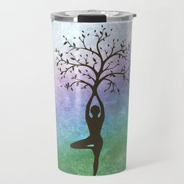 Yoga Tree Pose Travel Mug