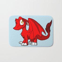 Red SD Furry Dragon Bath Mat