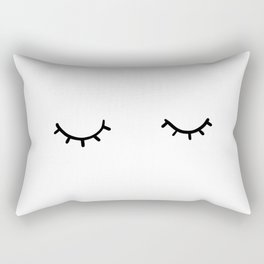 Closed eyes, just eyelashes Rectangular Pillow
