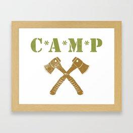 CAMP Framed Art Print