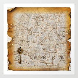 Fantasy Land: Map Art Print