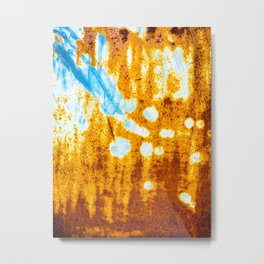 Waterfall in the forest Metal Print