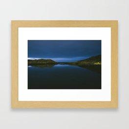 Lights out in Kristiansund Framed Art Print