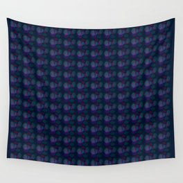 pattern pink bubbles on navy Wall Tapestry