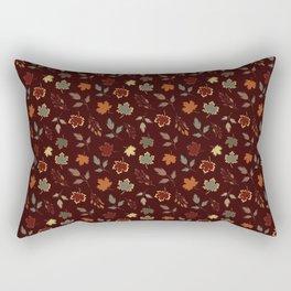 Autumn leaves seamless background Rectangular Pillow