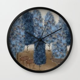 blueberry wood Wall Clock