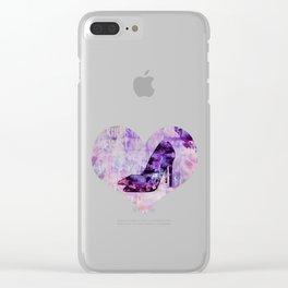High heel female shoe watercolor art Clear iPhone Case