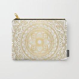 Gold Bali Mandala Carry-All Pouch