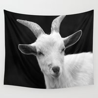goat Wall Tapestries featuring Goat by BACK to THE ROOTS