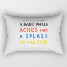 Splash of the Sun Rectangular Pillow