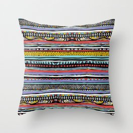 patterns of color Throw Pillow
