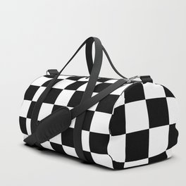 chess board, chessboard  black and white pattern Duffle Bag