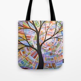 Abstract Art Landscape Original Painting ... Here Comes the Sun Tote Bag
