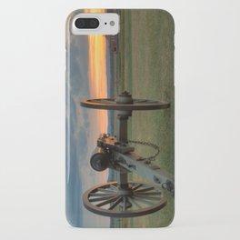 Gettysburg Cannon Sunset iPhone Case