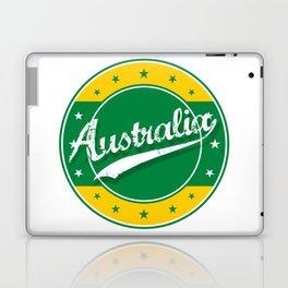 Australia, circle, green yellow Laptop & iPad Skin
