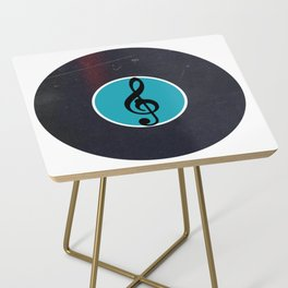 Vinyl Record Art & Design | G Clef | Musical Notes Side Table