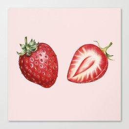Pink Strawberry Canvas Print