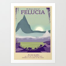 Retro Travel Poster Series - Star Wars - Felucia Art Print