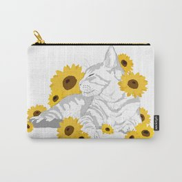 Sunflower cat Carry-All Pouch