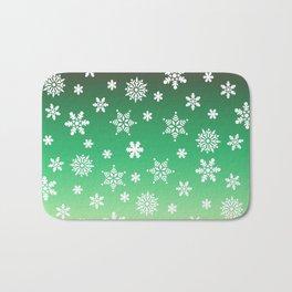 Snow Flurries-Green/Cream Ombre Bath Mat