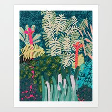 The Giraffes Art Print