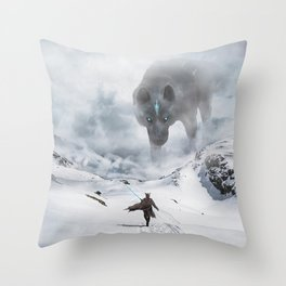 Ancient Wolf Throw Pillow