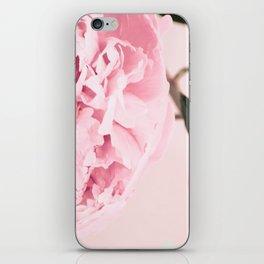 Fine Art Pastel Pink Peony Photography, Flower iPhone Skin