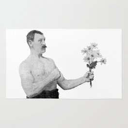 Chivalry, woman. Rug